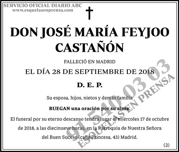 José María Feyjoo Castañón